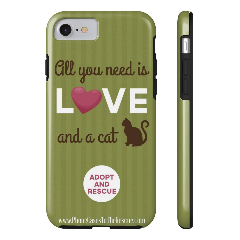 iPhone 7 Cute Brown Cat Phone Case with Tough Rugged Protection