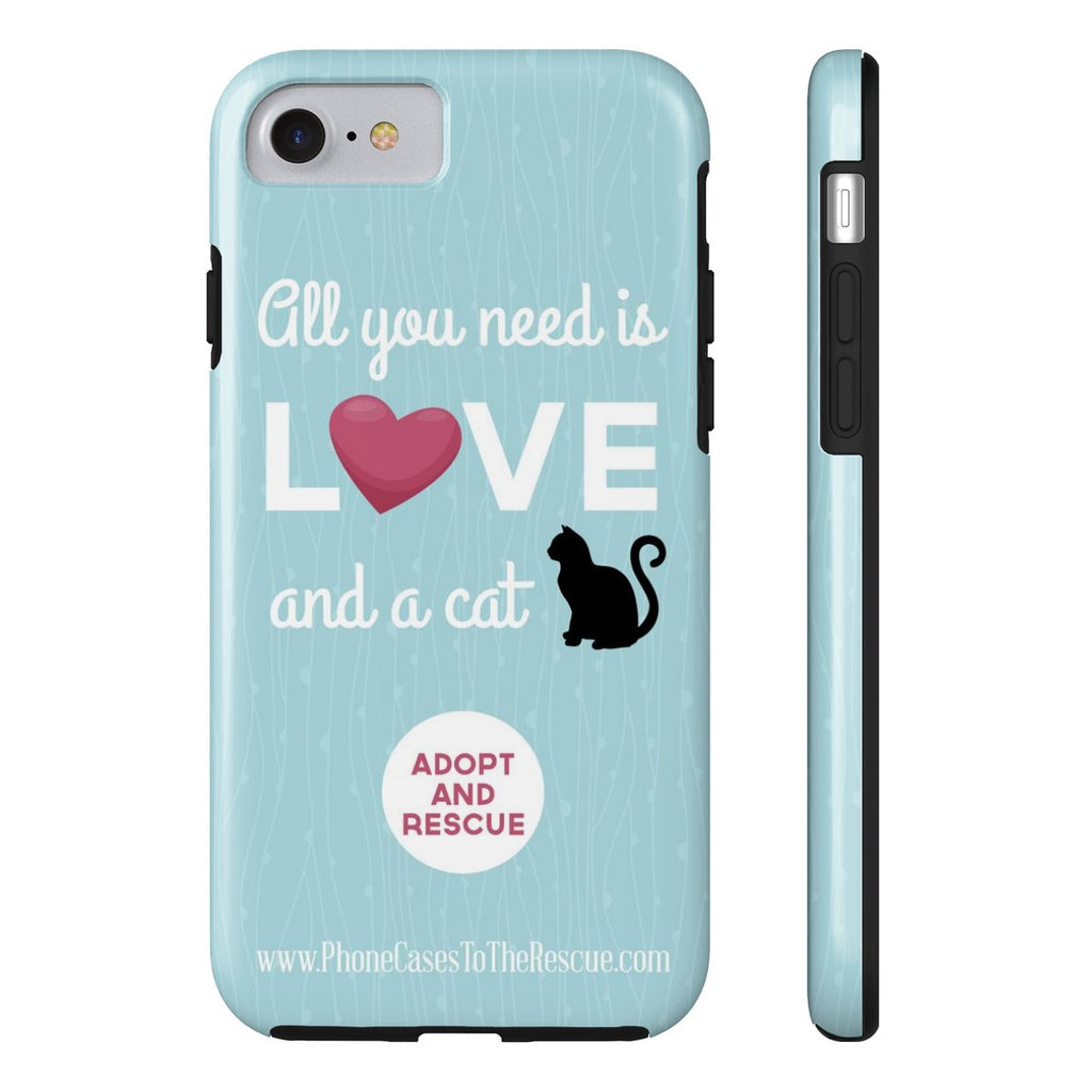 iPhone 7 Cute Black Cat Phone Case with Tough Rugged Protection