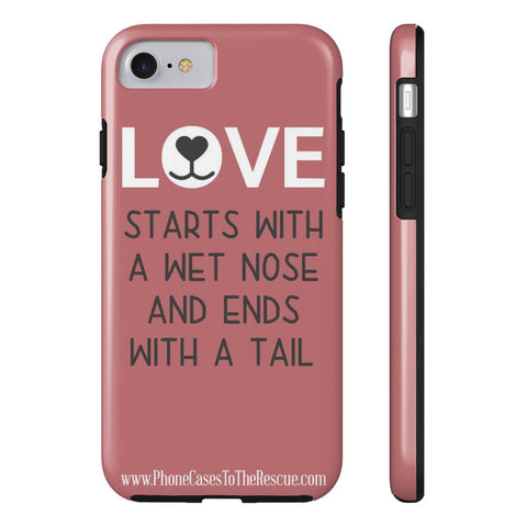 iPhone 7 Where Love Starts Phone Case with Tough Rugged Protection