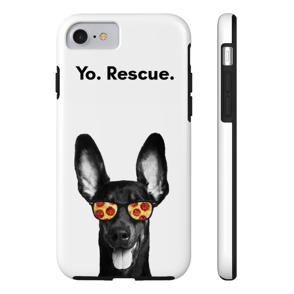 iPhone 7 Yo Rescue Pizza Dog Phone Case with Tough Rugged Protection