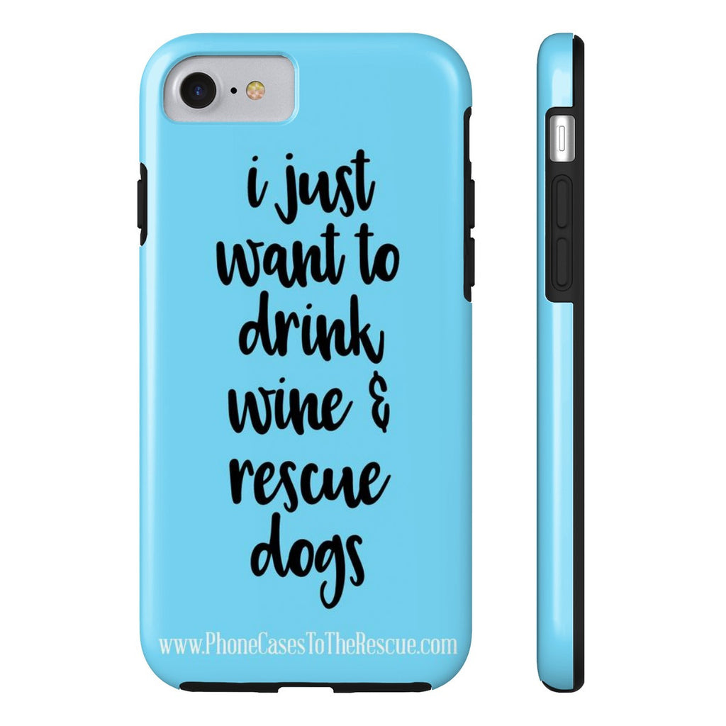 iPhone 7 Rescue Dogs Phone Case with Tough Rugged Protection