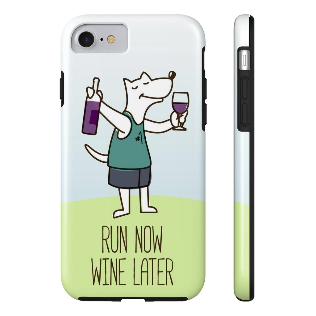 iPhone 7 Run Now Drinks Later Phone Case with Tough Rugged Protection