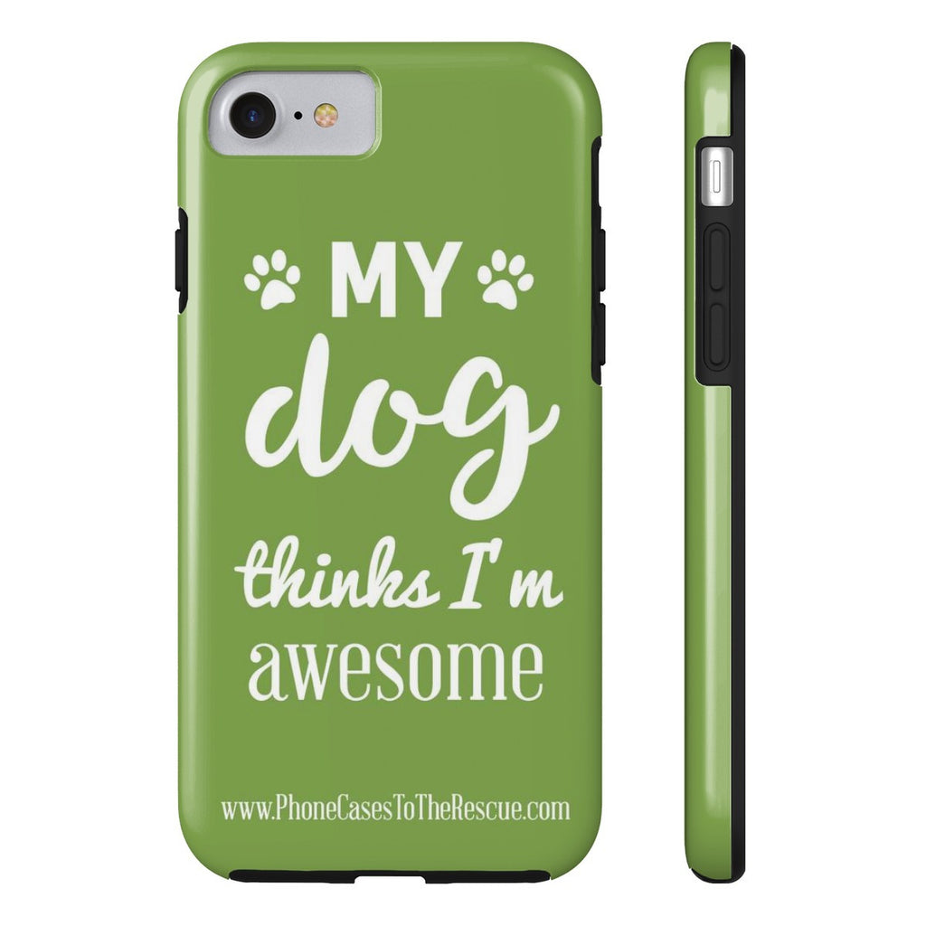 iPhone 7 Phone Case with Inspirational Dog Quote with Tough Rugged Protection