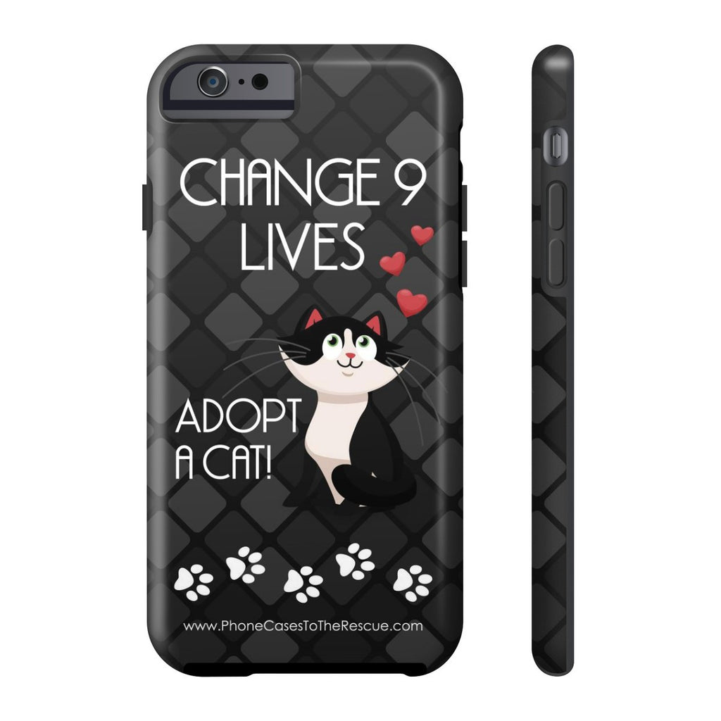 iPhone 6/6s Change 9 Lives Cat Phone Case with Tough Rugged Protection