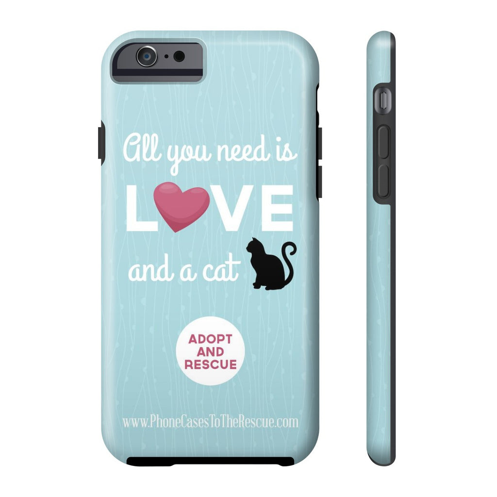 iPhone 6/6s Cute Black Cat Phone Case with Tough Rugged Protection