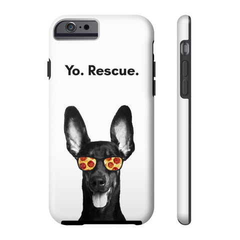 iPhone 6/6s Yo Rescue Pizza Dog Phone Case with Tough Rugged Protection