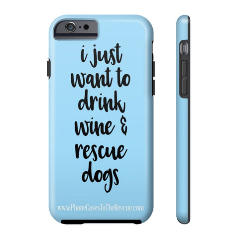 iPhone 6/6s Rescue Dogs Phone Case with Tough Rugged Protection