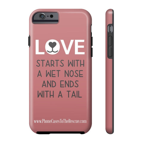 iPhone 6/6s Where Love Starts Phone Case with Tough Rugged Protection