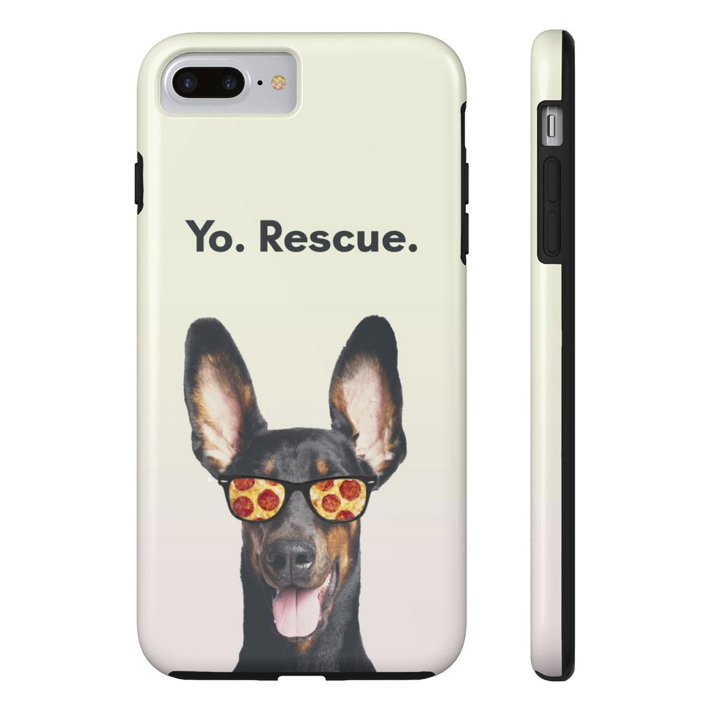 iPhone 7 Plus Yo Rescue Pizza Dog Phone Case with Tough Rugged Protection