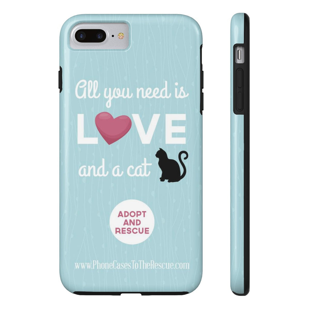 iPhone 7 Plus Cute Black Cat Phone Case with Tough Rugged Protection