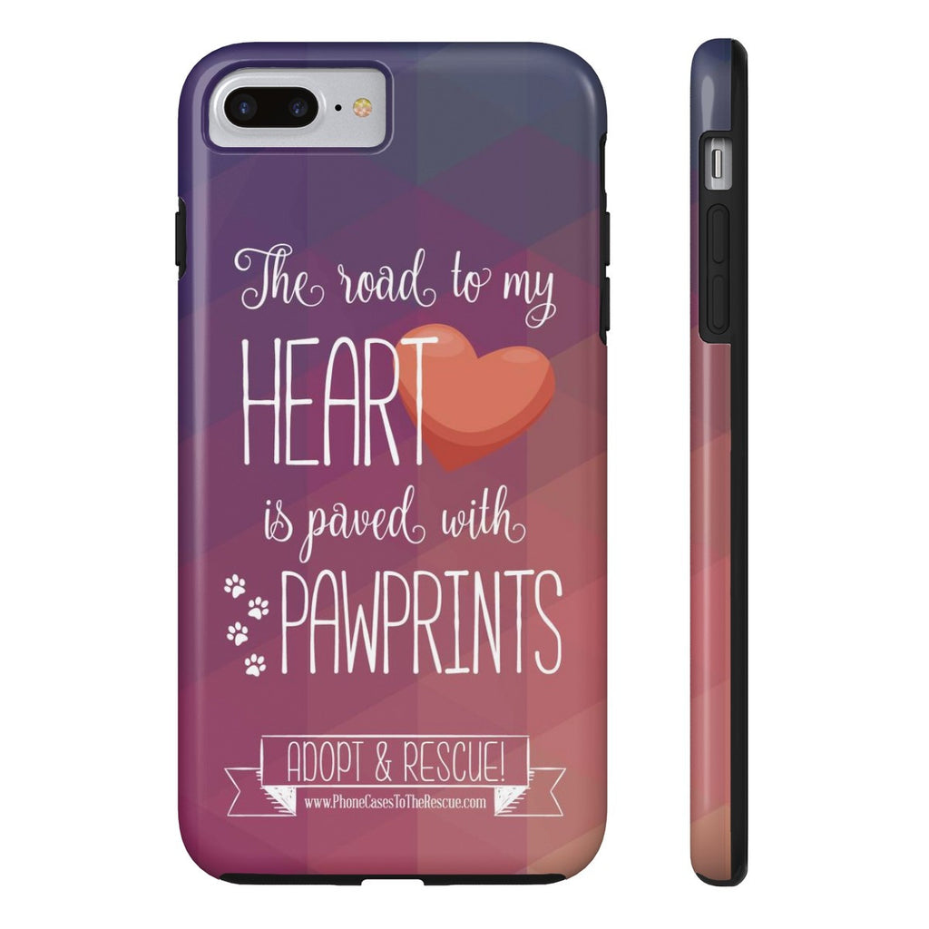 iPhone 7 Plus Paved with Pawprints Phone Case with Tough Rugged Protection