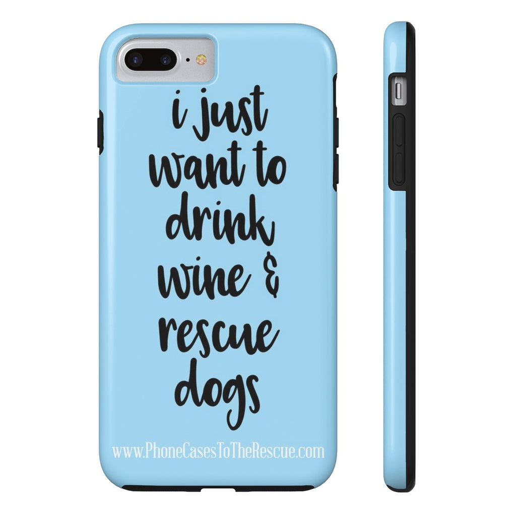 iPhone 7 Plus Rescue Dogs Phone Case with Tough Rugged Protection