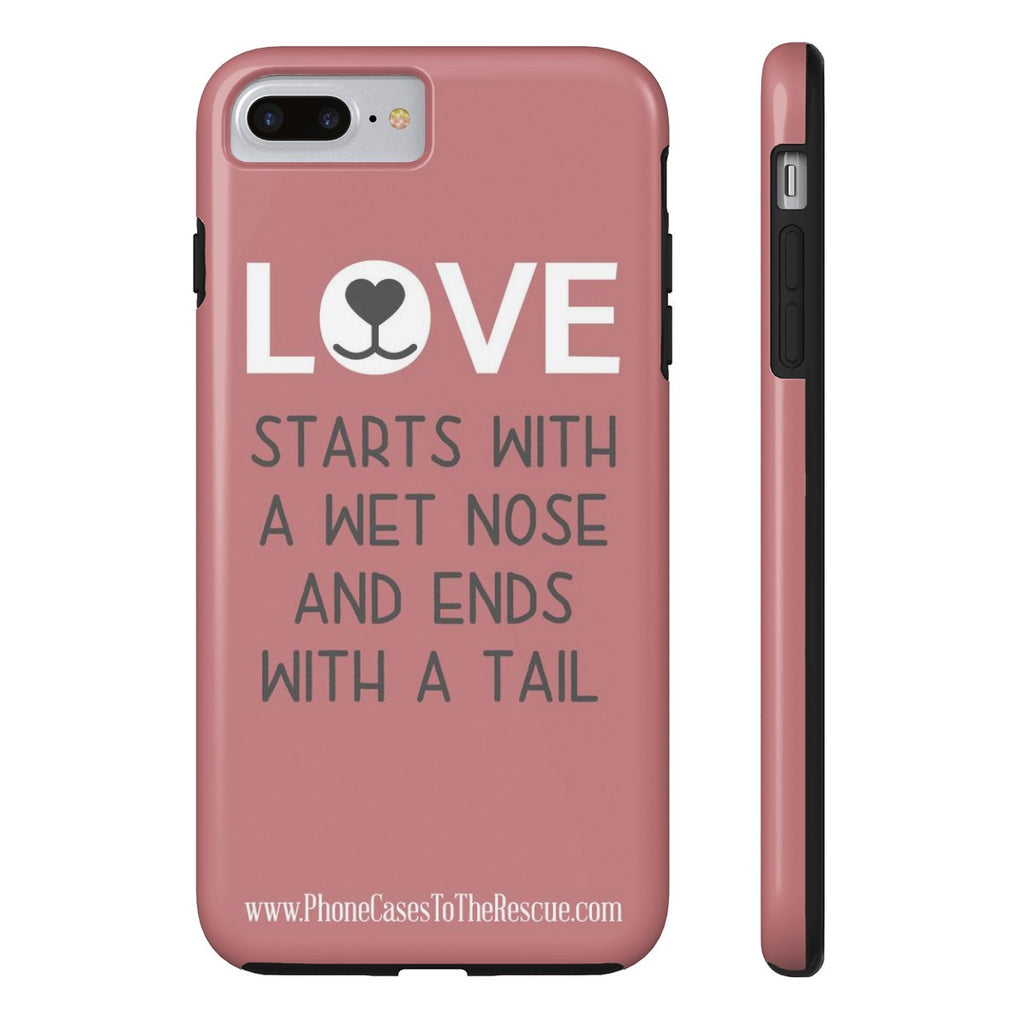 iPhone 7 Plus Where Love Starts Phone Case with Tough Rugged Protection