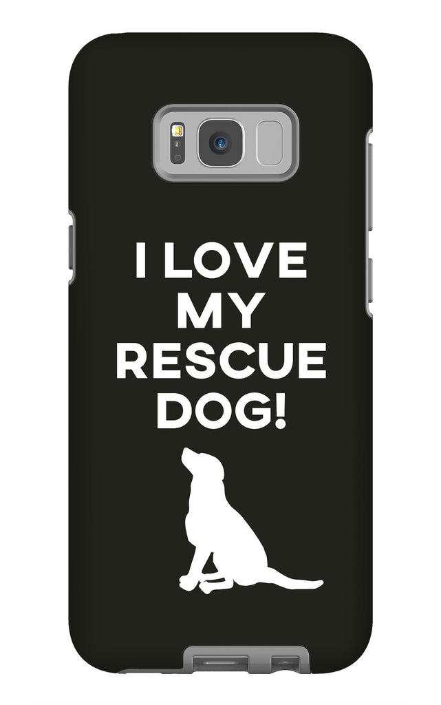 Samsung Galaxy S8 Plus I Love My Rescue Dog Phone Case with Tough Rugged Protection