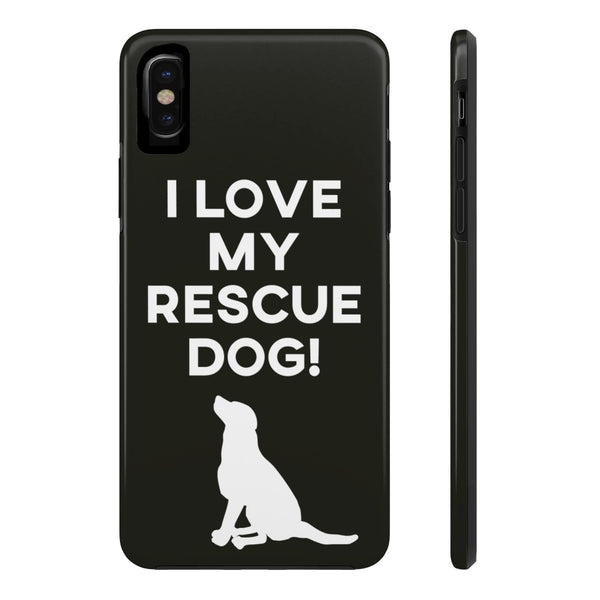 iPhone X I Love My Rescue Phone Case with Tough Rugged Protection