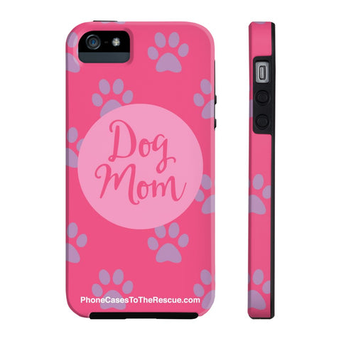 iPhone 5/5s/5se Dog Mom Phone Case with Tough Rugged Protection
