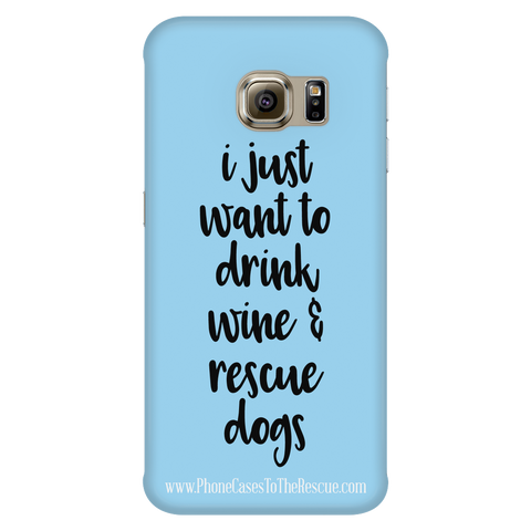 Samsung Galaxy S6 Edge Rescue Dogs Phone Case with Ultra Slim Durable Profile