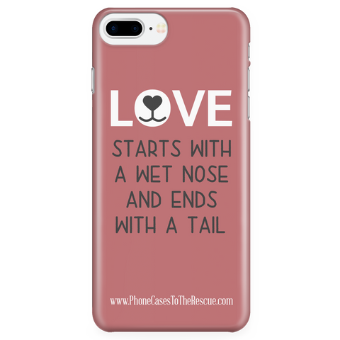 iPhone 7/7s Plus Where Love Starts Phone Case with Ultra Slim Durable Profile