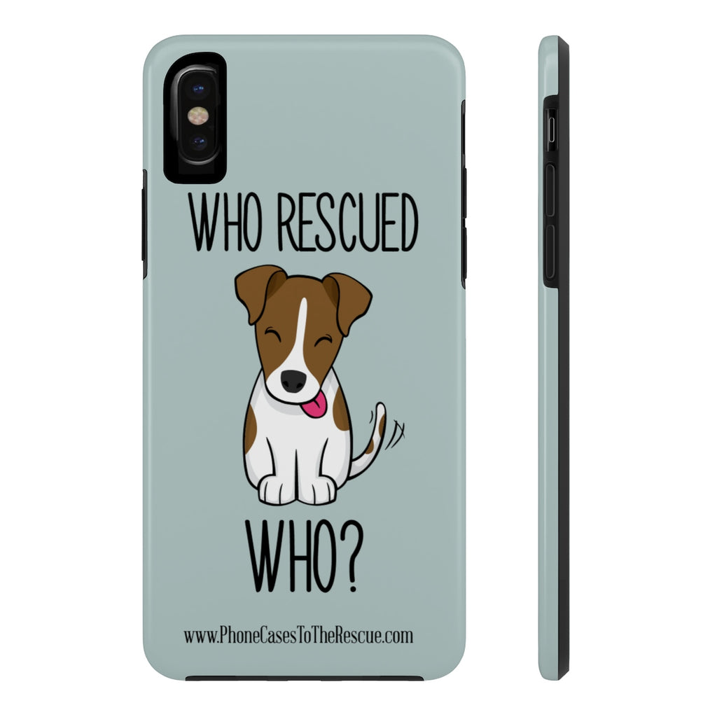 iPhone X Who Rescued Who Phone Case with Tough Rugged Protection