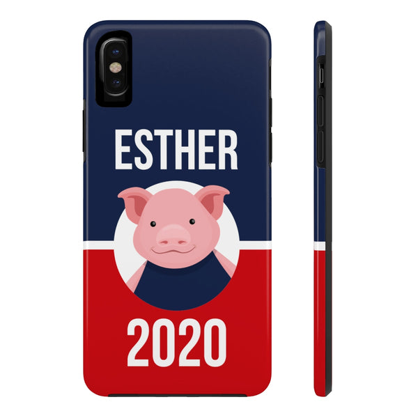 iPhone X Esther Blue Phone Case with Tough Rugged Protection