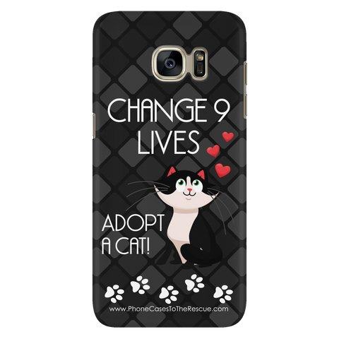 Samsung Galaxy S7 Change 9 Lives Cat Phone Case with Ultra Slim Durable Profile