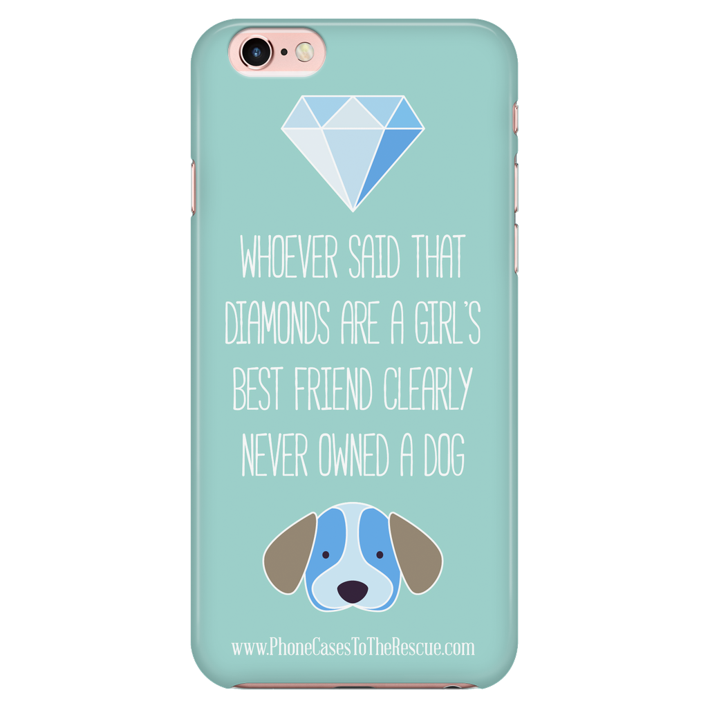 iPhone 7/7s Diamonds Are a Girl's Best Friend Phone Case with Ultra Slim Durable Profile