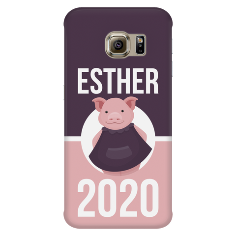 Samsung Galaxy S6 Edge Esther 2020 Pink and Purple Phone Case with Ultra Slim Durable Profile
