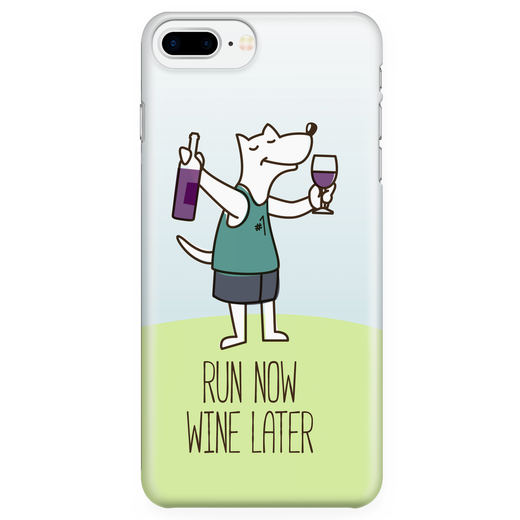 iPhone 7/7s Plus Run Now Drinks Later Phone Case with Ultra Slim Durable Profile