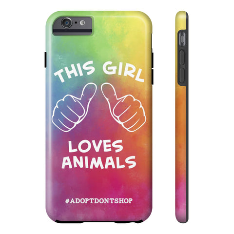 iPhone 6/6s Plus For the Love of Animals Phone Case with Tough Rugged Protection