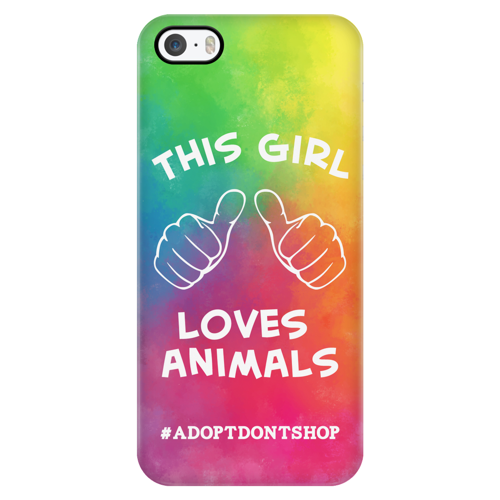 iPhone 5/5s For the Love of Animals Phone Case with Ultra Slim Durable Profile