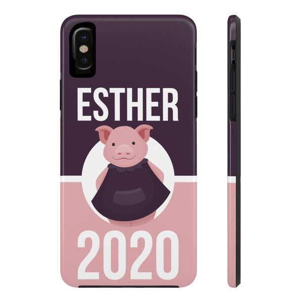 iPhone X Esther Pink Phone Case with Tough Rugged Protection