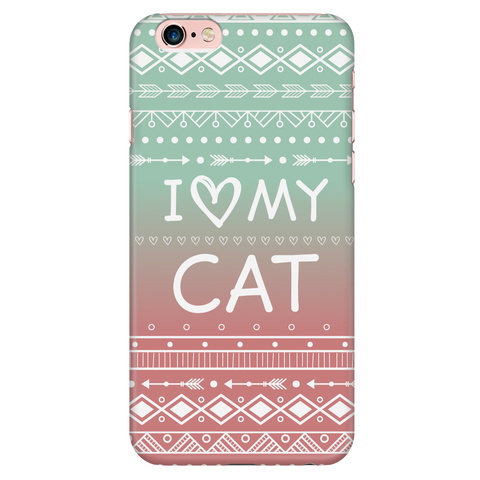 iPhone 6/6s I Love My Cat Phone Case with Ultra Slim Durable Profile