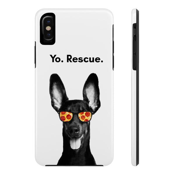 iPhone X Yo Rescue White Phone Case with Tough Rugged Protection