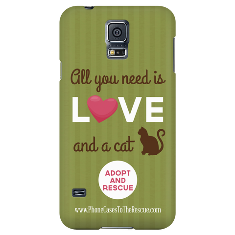 Samsung Galaxy S5 Cute Brown Cat Phone Case with Ultra Slim Profile