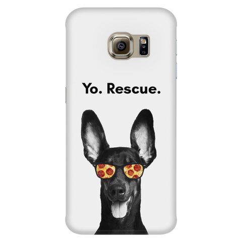 Samsung Galaxy S6 Edge Yo Rescue Pizza Dog Phone Case with Ultra Slim Durable Profile