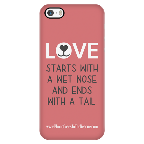 iPhone 5/5s Where Love Starts Phone Case with Ultra Slim Durable Profile