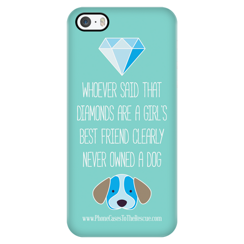 iPhone 5/5s Diamonds Are a Girl's Best Friend Phone Case with Ultra Slim Durable Profile
