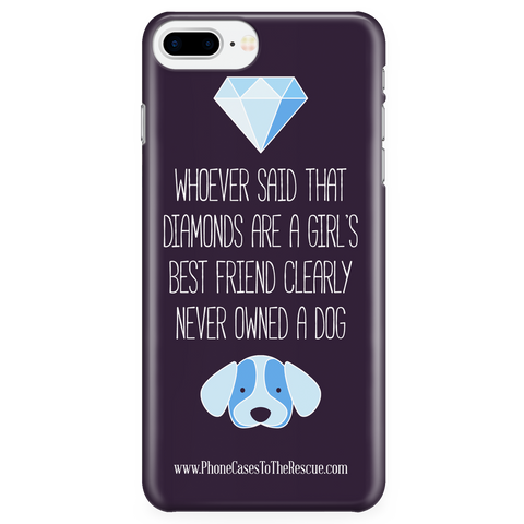 iPhone 7/7s Plus Diamonds Are a Girl's Best Friend Phone Case with Ultra Slim Durable Profile