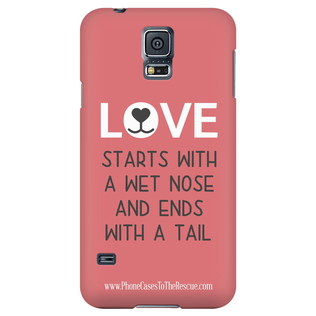 Samsung Galaxy S5 Where Love Starts Phone Case with Ultra Slim Profile
