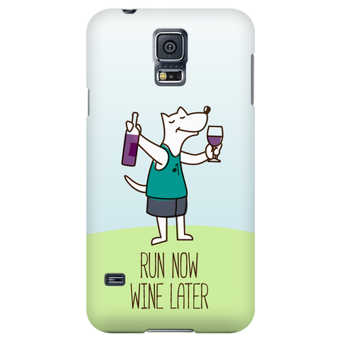 Samsung Galaxy S5 Run Now Drinks Later Phone Case with Ultra Slim Profile