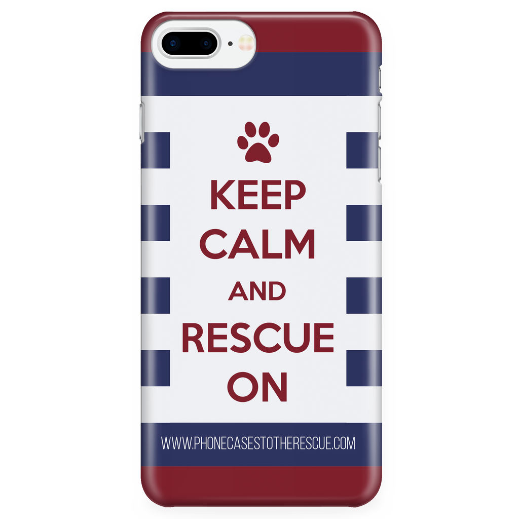iPhone 7/7s Plus Keep Calm and Rescue On Patriotic Phone Case with Ultra Slim Durable Profile
