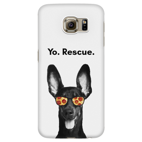 Samsung Galaxy S6 Yo Rescue Pizza Dog Phone Case with Ultra Slim Durable Profile