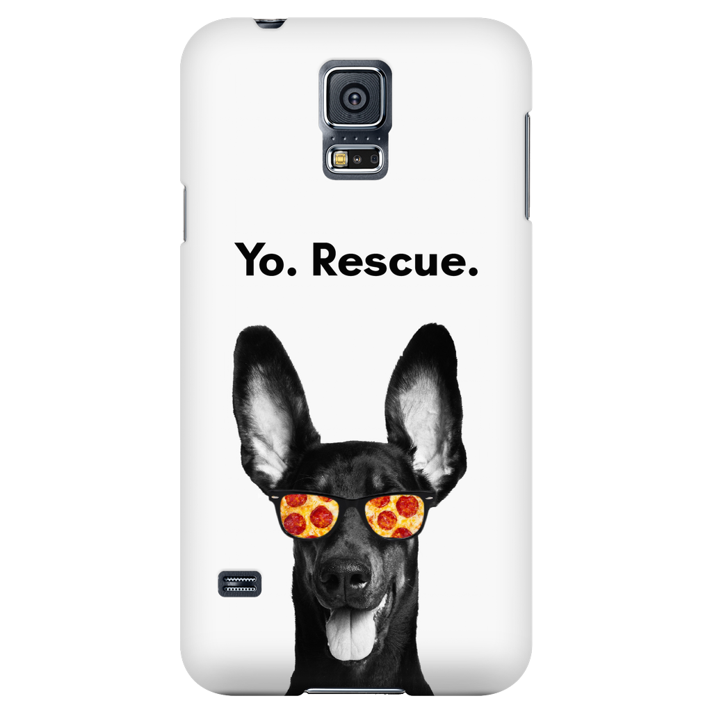 Samsung Galaxy S5 Yo Rescue Pizza Dog Phone Case with Ultra Slim Profile