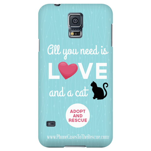 Samsung Galaxy S5 Cute Black Cat Phone Case with Ultra Slim Profile