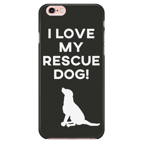 iPhone 7/7s I Love My Rescue Dog Phone Case with Ultra Slim Durable Profile