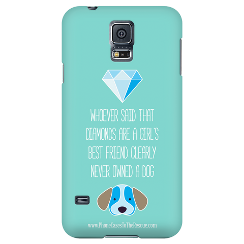 Samsung Galaxy S5 Diamonds Are a Girl's Best Friend Phone Case with Ultra Slim Profile