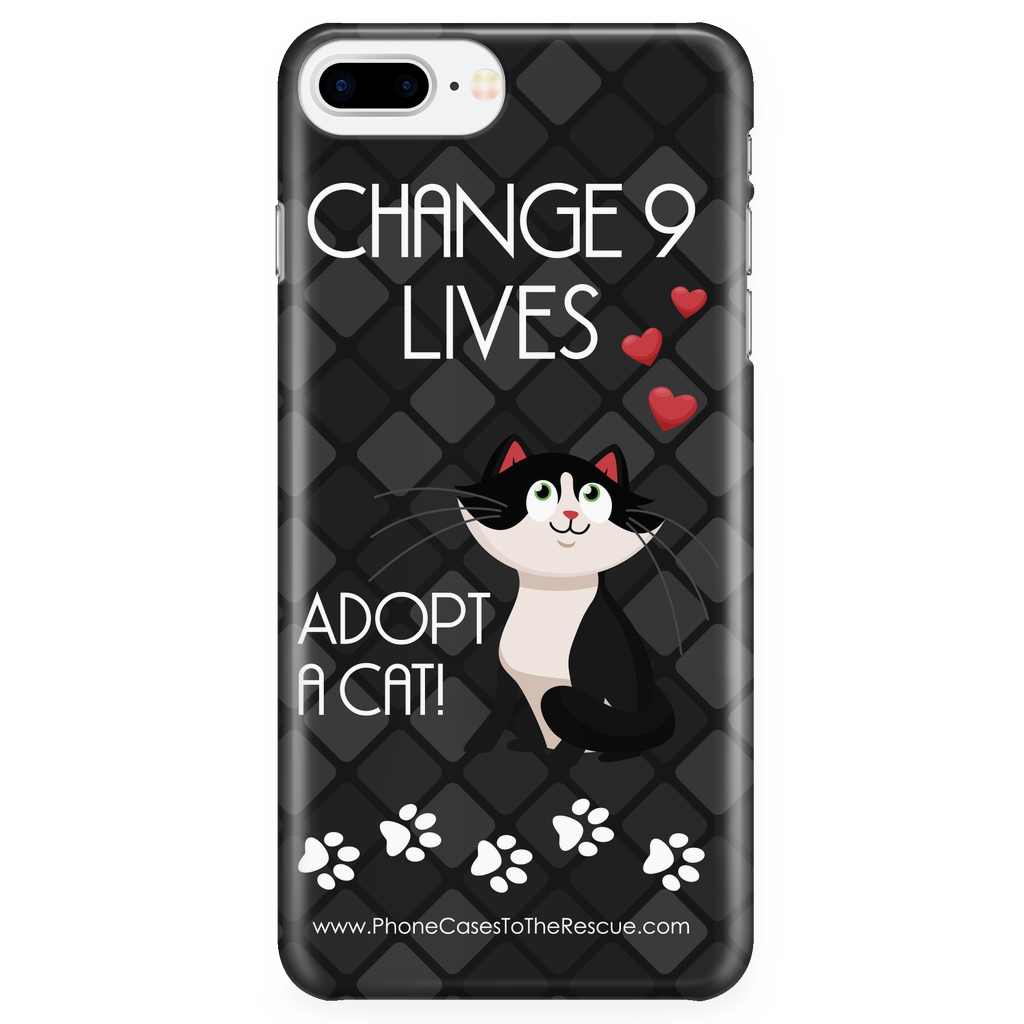 iPhone 7/7s Plus Change 9 Lives Cat Phone Case with Ultra Slim Durable Profile