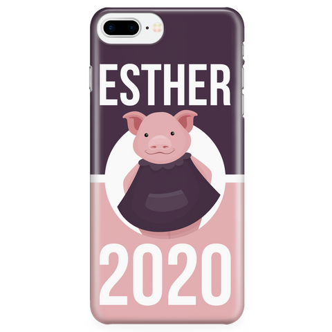 iPhone 7/7s Plus Esther 2020 Pink and Purple Phone Case with Ultra Slim Durable Profile