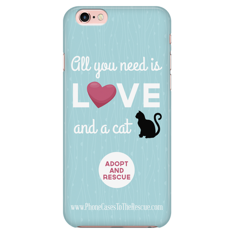 iPhone 7/7s Cute Black Cat Phone Case with Ultra Slim Durable Profile