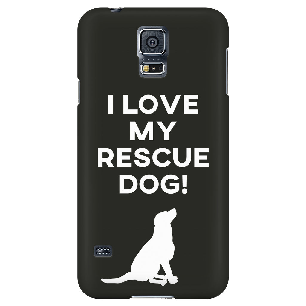 Samsung Galaxy S5 I Love My Rescue Dog Phone Case with Ultra Slim Profile